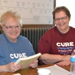 CURE Volunteers. Bev Tollefson (left) and Vonnie Saquilan (right)
