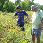 Jianhua Qian and Steven Petrich checking out the wildflowers.