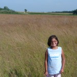 Reena in the field at Lac qui Parle State Park.