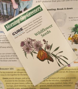 Each workshop attendee received a packet of wildflower seeds.