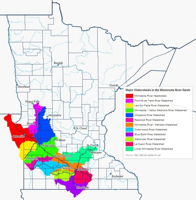 MN River Watershed Map