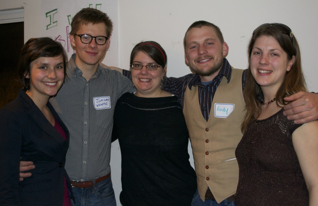 Event panelist speakers. Left to right: Natalie Hoidal, Jordan Wente, Michele Anderson, Andy Hayner & Noelle Harden.