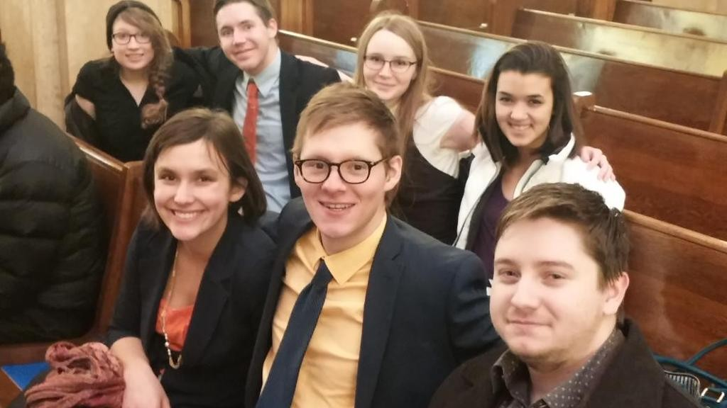 Students from the University of Minnesota, Morris.