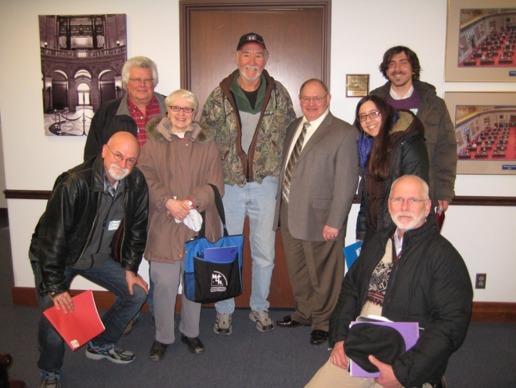Left to right: Darwin Dyce, Al Kruse, Kay Fernholz, Marv Boike, Senator Gary Dahms, Sarina Otaibi, Ryan Meehan, Glenn Gelhar. Photo by Sentator Gary Dahms Office.