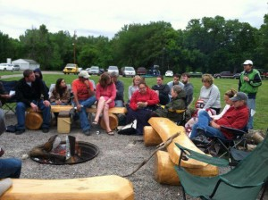 Talk around the fire at River and History weekend