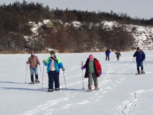 Snowshoeing in the Gneiss SNA with Don Robertson in February, 2014.
