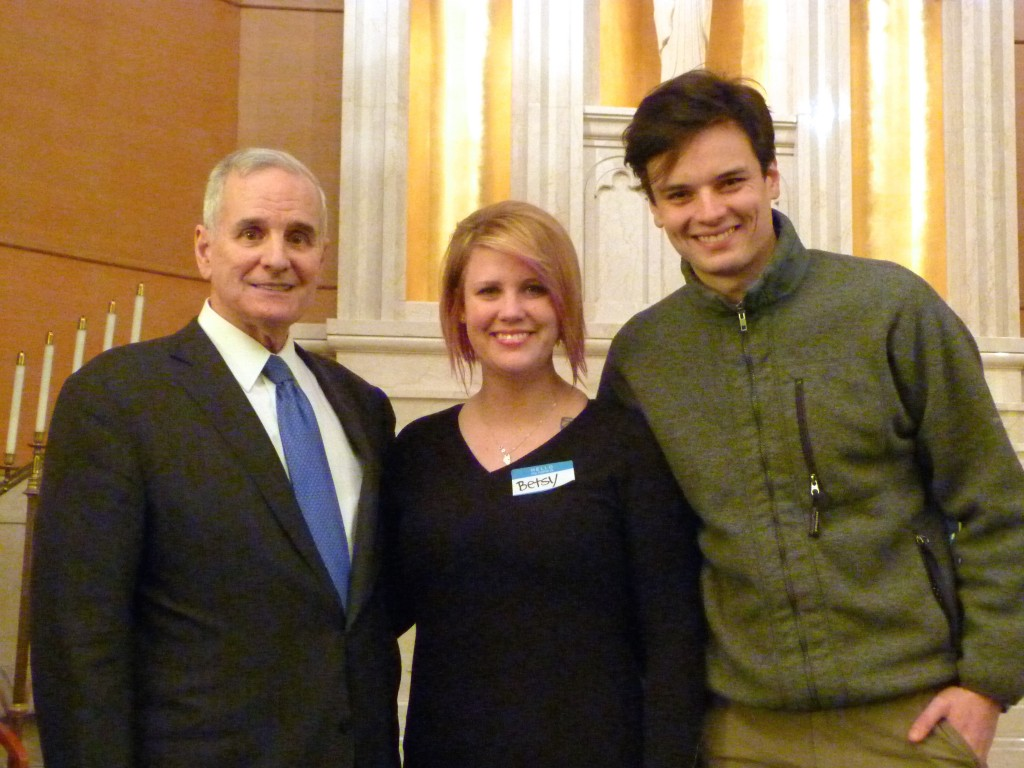 Betsy Nielsen, CURE Member, and Kristian Nyberg, CURE Energy Program Coordinator, had the opportunity to meet with Governor Mark Dayton.