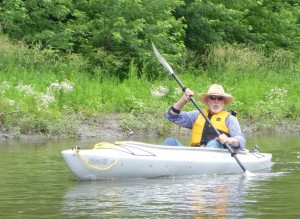 Glenn paddling the Minnesota River during CURE's River History Weekend.
