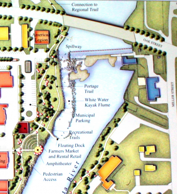 Whitewater park rendering from the early 2000s that was developed during Granite Falls' Flood Recovery Project.