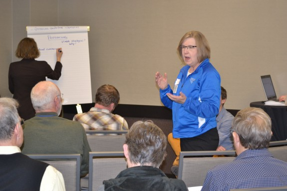 Karen Flom, Disrict Manager, Renville County SWCD in Olivia