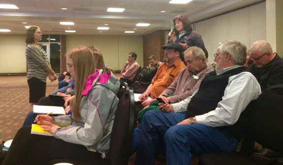 Marshall Clean Power Plan Listening Session. Photo by Amanda Smith, MPCA Air Policy Planner, Twitter.