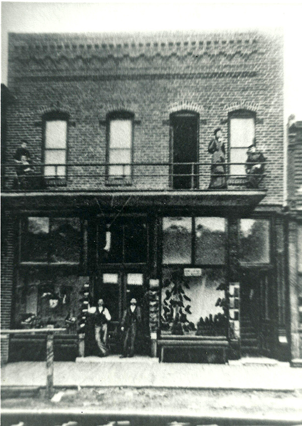 The CURE building in 1879.