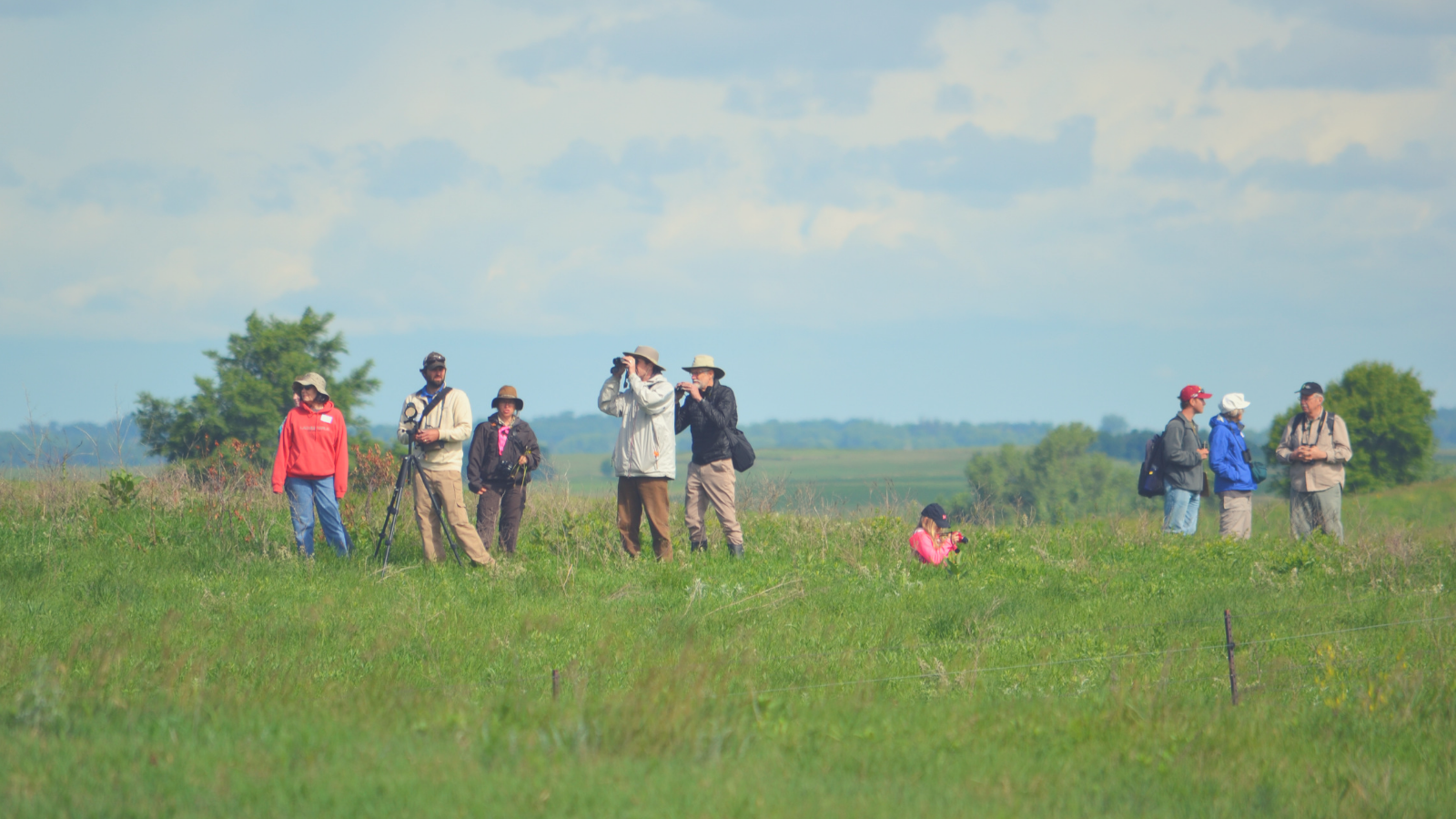 People on the prairie at BioBlitz 2017