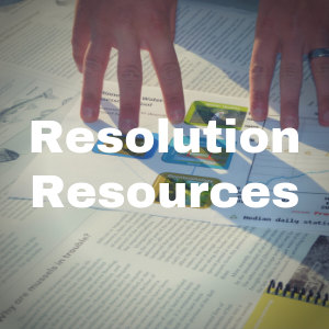 Resolutions Resources button