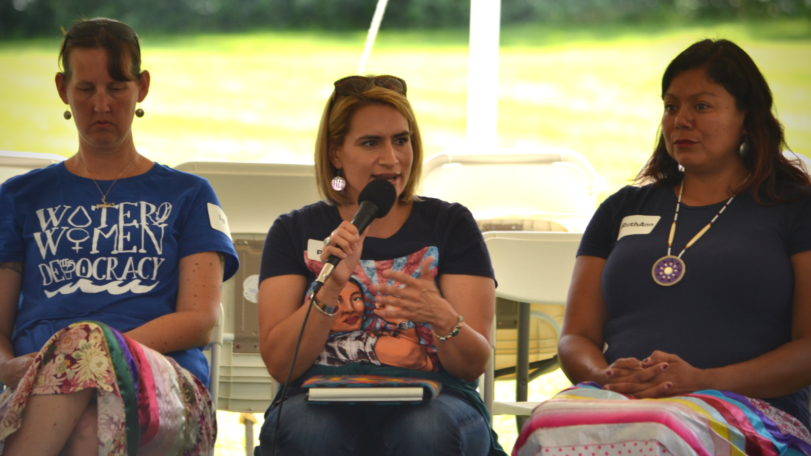 A panel of speakers at Water, Women & Democracy