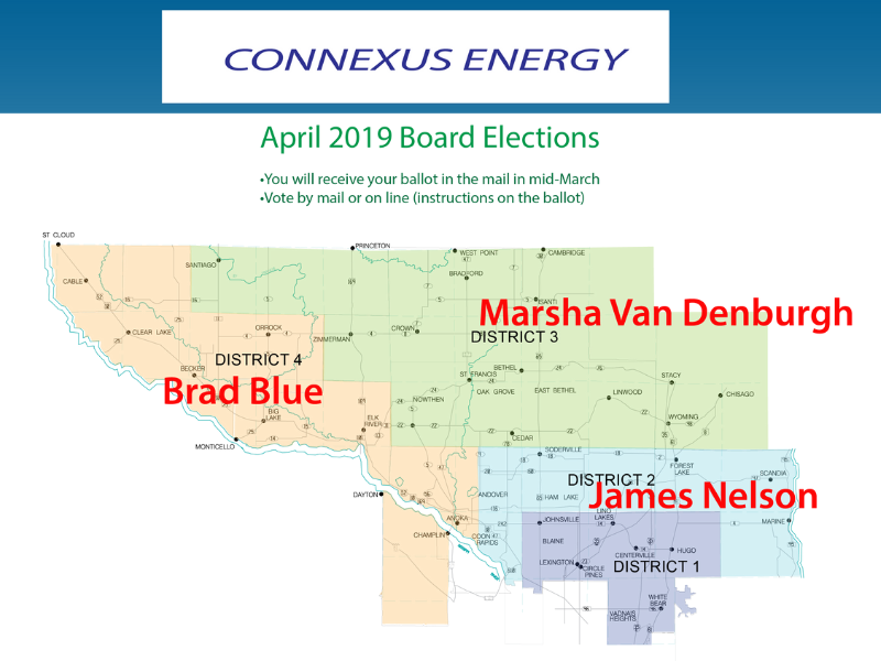 A map of Connexus Energy territory