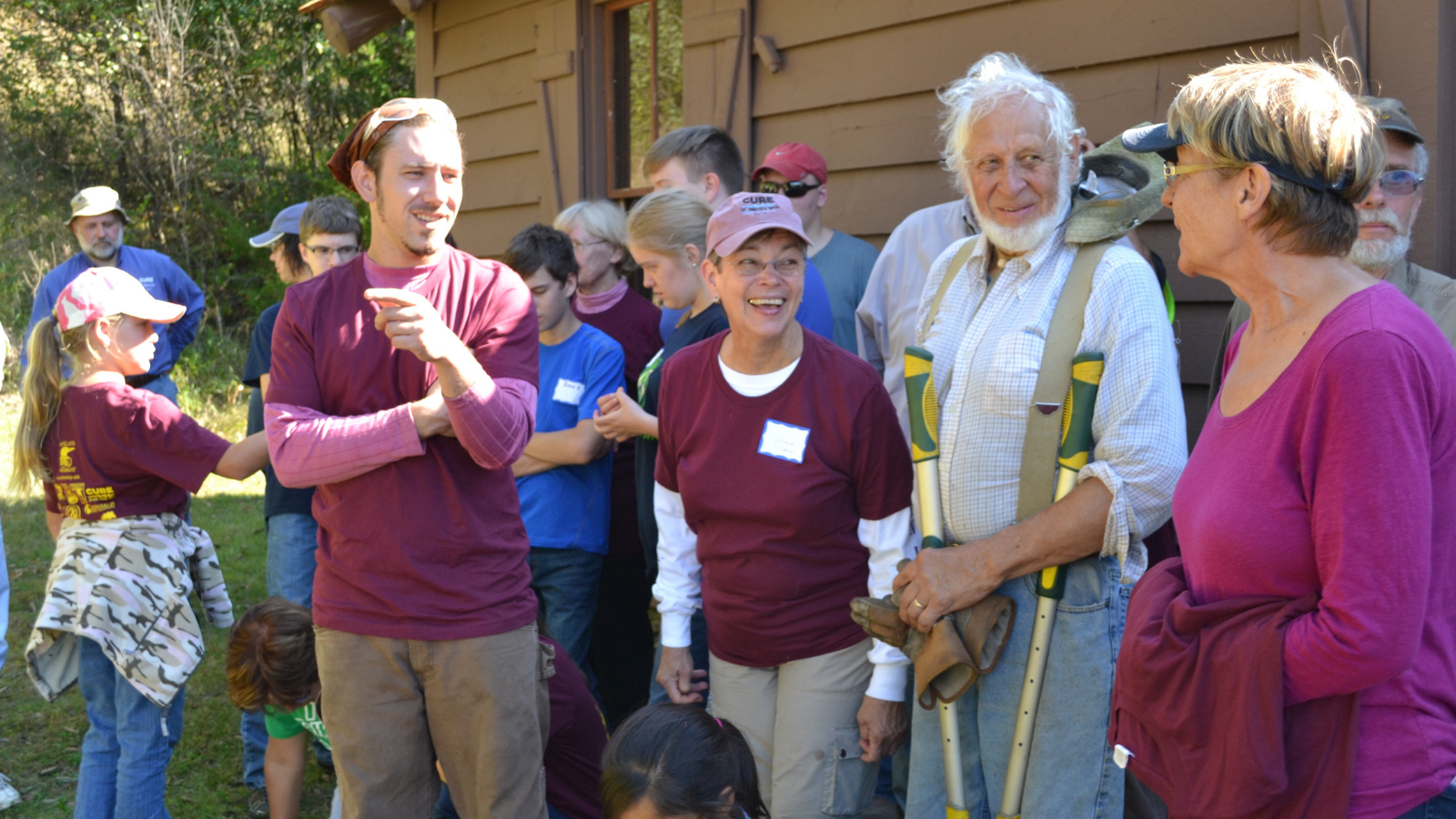 CURE members gathered at a previous National Public Lands Day event