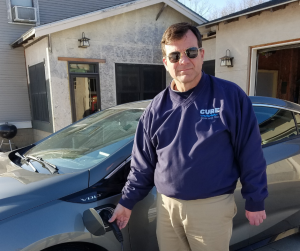 CURE member Pete with his Chevy Volt