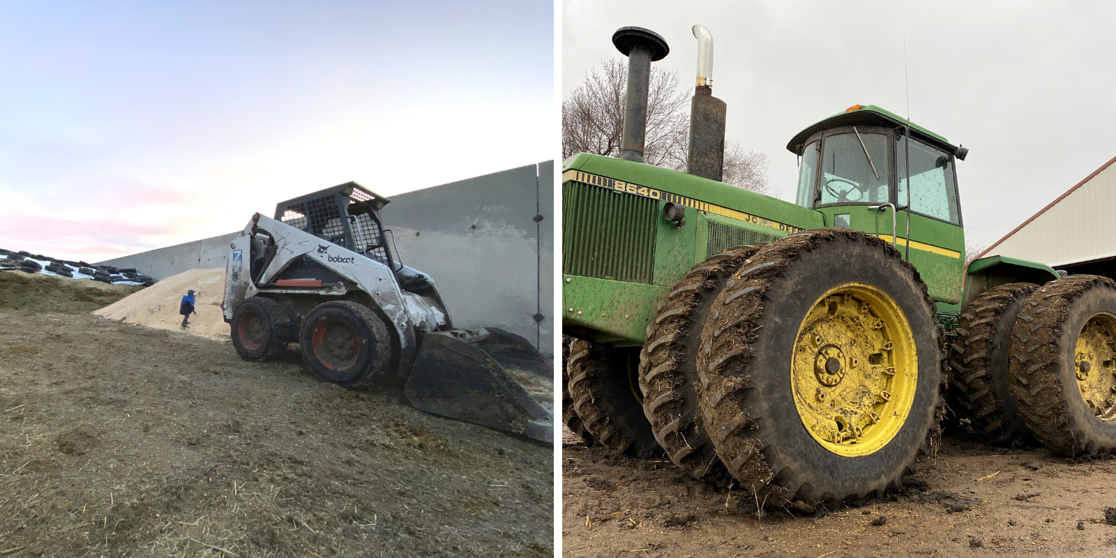 Farm equipment - skid steer & John Deere tractor