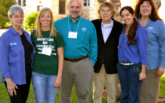 Dixie and other CURE staff with Will Steger in 2013