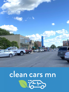 Rural Minnesota Main Street + MPCA Clean Cars logo