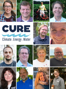 Collage picture of CURE Board members + staff